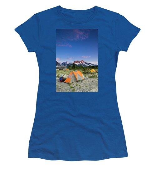 Sunset Camp Along The Alsek River Women's T-Shirt