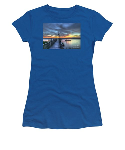Sunset Over The River Women's T-Shirt