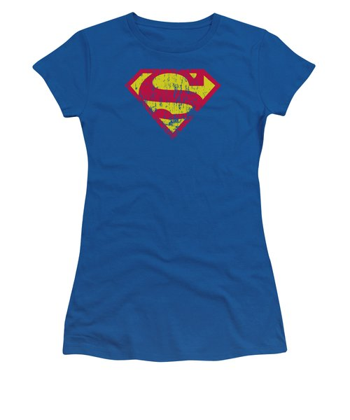 Superman - Classic Logo Distressed Women's T-Shirt