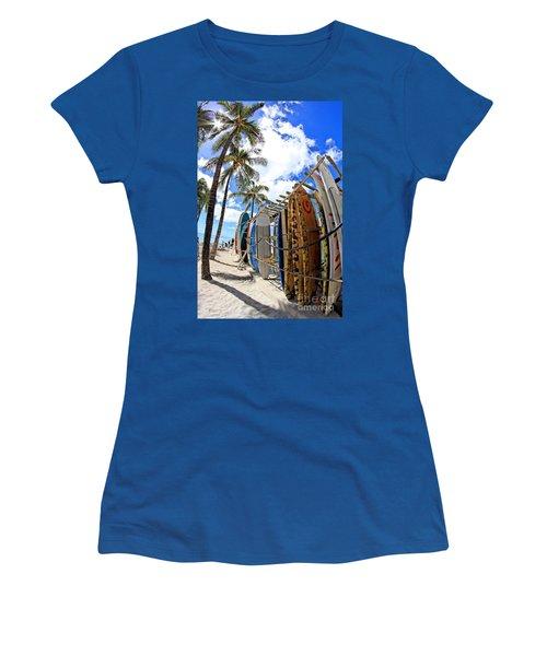 Surf And Sun Waikiki Women's T-Shirt
