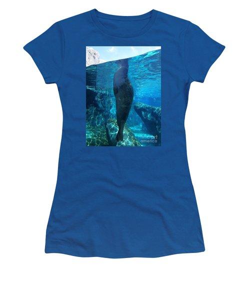 Taking A Peek Women's T-Shirt (Junior Cut) by Luther Fine Art