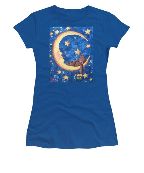 Women's T-Shirt (Junior Cut) featuring the painting Teddy Bear Dreams by Megan Walsh