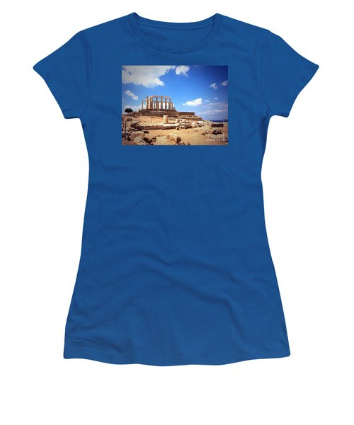 Temple Of Poseidon Vignette Women's T-Shirt