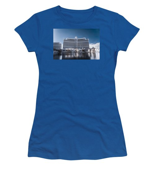 The Bellagio Hotel And Casino In Infrared Women's T-Shirt