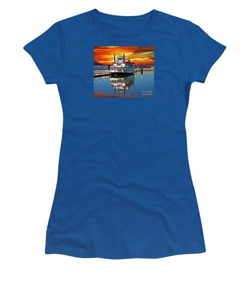 The End Of A Beautiful Day In The San Francisco Bay Women's T-Shirt (Junior Cut) by Jim Fitzpatrick