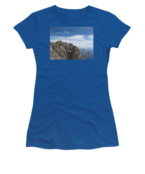 Women's T-Shirt (Junior Cut) featuring the photograph The Summit by Pema Hou