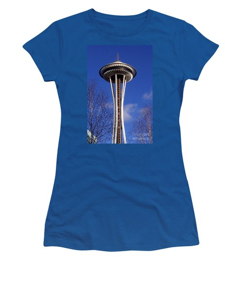 Women's T-Shirt (Junior Cut) featuring the photograph The Symbol Of Seattle by Kathy  White