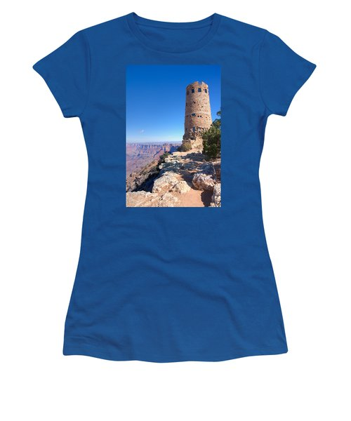 Women's T-Shirt (Junior Cut) featuring the photograph The Watchtower by John M Bailey