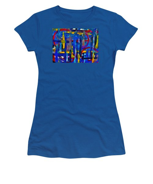 Women's T-Shirt (Junior Cut) featuring the painting Anchored In Art by Lisa Kaiser