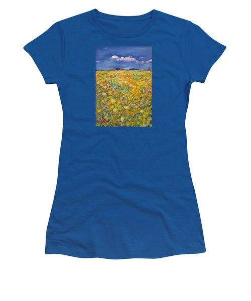 tiptoe Through Summer Meadow Women's T-Shirt (Junior Cut) by Richard James Digance
