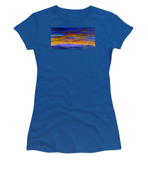 Tobacco Root Mountains Sunset Women's T-Shirt