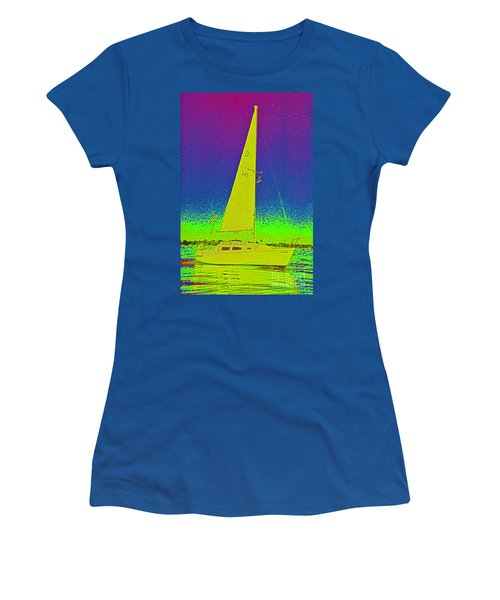 Tom Ray's Sailboat Women's T-Shirt (Athletic Fit)