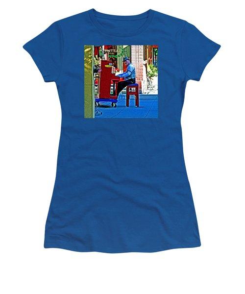 Traveling Piano Player Women's T-Shirt