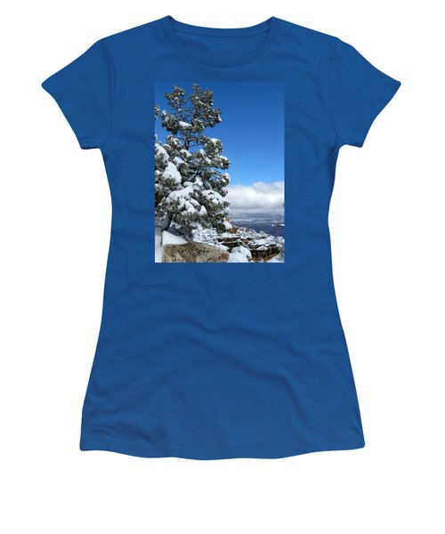 Women's T-Shirt (Junior Cut) featuring the photograph Tree At The Grand Canyon by Laurel Powell