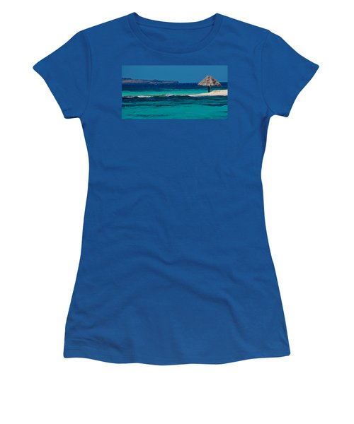 Women's T-Shirt (Junior Cut) featuring the photograph Tropical Umbrella by Don Schwartz