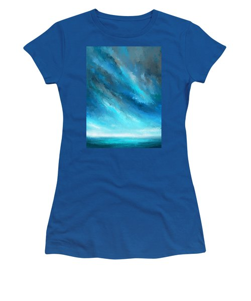 Turquoise Memories - Turquoise Abstract Art Women's T-Shirt