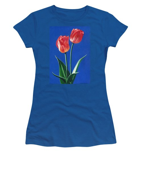 Two Tulips Women's T-Shirt (Athletic Fit)