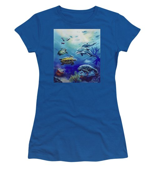 Under Water Antics Women's T-Shirt (Athletic Fit)