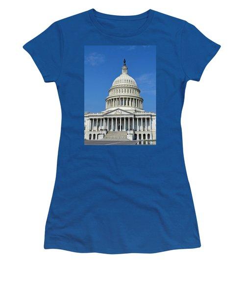 Us Capitol Building Women's T-Shirt (Athletic Fit)