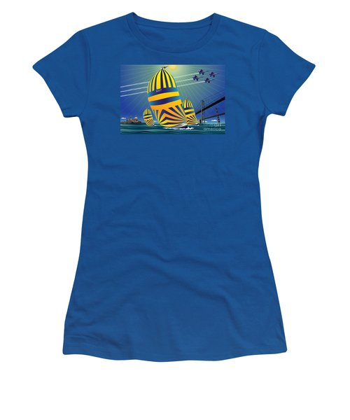 Usna High Noon Sail Women's T-Shirt (Athletic Fit)