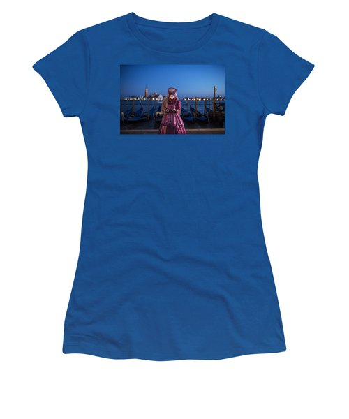 Venice Carnival '15 V Women's T-Shirt (Athletic Fit)