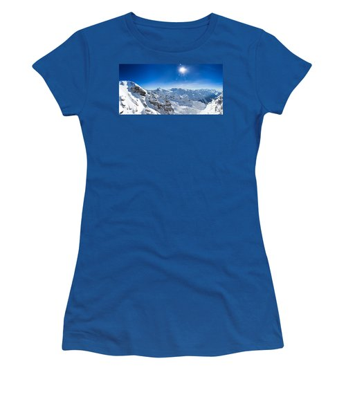 View From Titlis Mountain Towards The South Women's T-Shirt (Junior Cut) by Carsten Reisinger