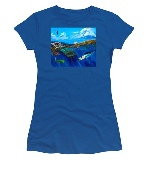 Wahoo Under Board Women's T-Shirt (Athletic Fit)