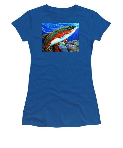 Brook Trout  Women's T-Shirt (Junior Cut) by Jackie Carpenter