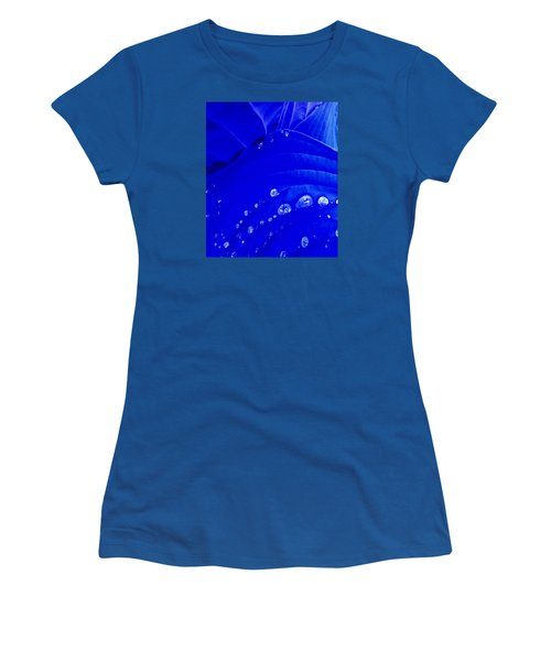 Women's T-Shirt (Junior Cut) featuring the photograph Water Droplets  by Carolyn Repka