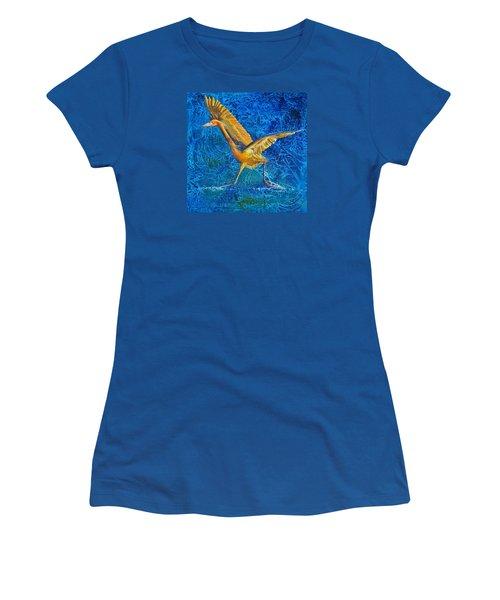 Water Run Women's T-Shirt (Junior Cut) by AnnaJo Vahle