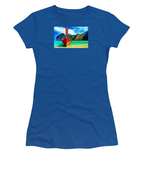 Watermarked-a Dreamy Version Collection Women's T-Shirt (Junior Cut) by Catherine Lott