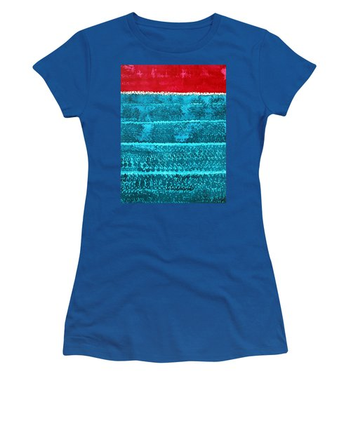 Waves Original Painting Women's T-Shirt (Athletic Fit)