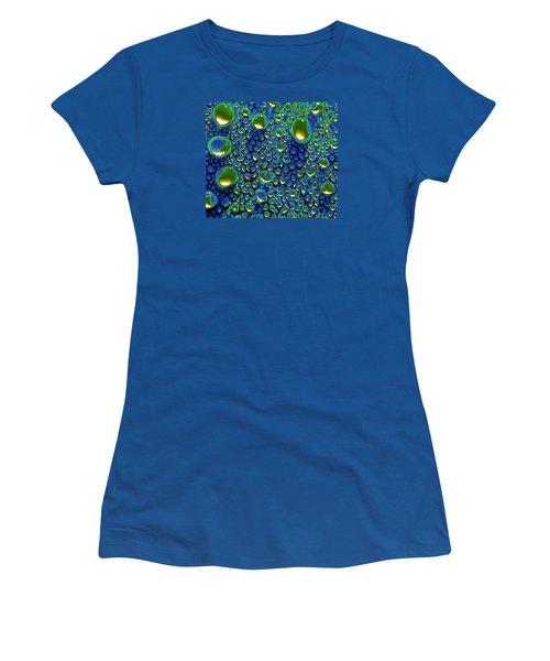 Wax Holds Up Women's T-Shirt (Junior Cut) by Joe Schofield