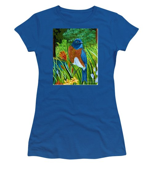 Western Bluebird Women's T-Shirt (Athletic Fit)