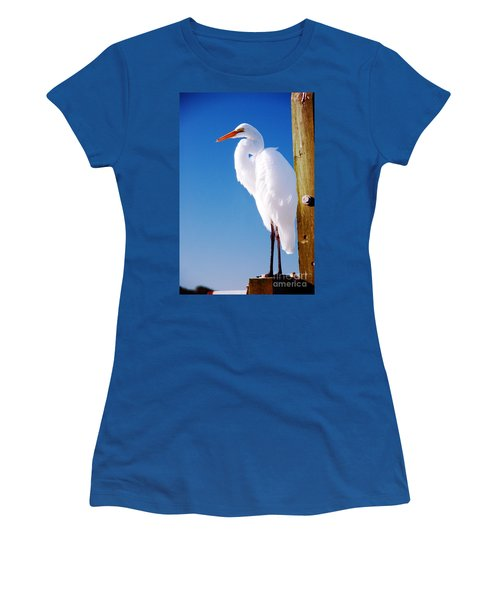 Great White Heron Women's T-Shirt (Athletic Fit)