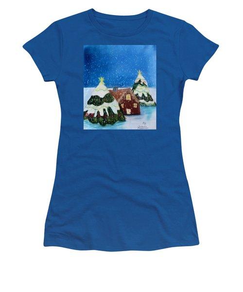 Christmasland Women's T-Shirt (Junior Cut) by Joshua Maddison