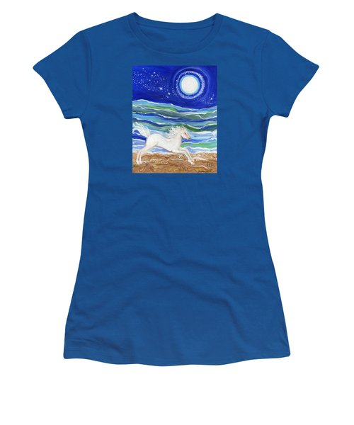 White Horse Of The Sea Women's T-Shirt (Athletic Fit)