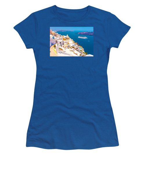 White Houses Of Santorini Women's T-Shirt (Athletic Fit)