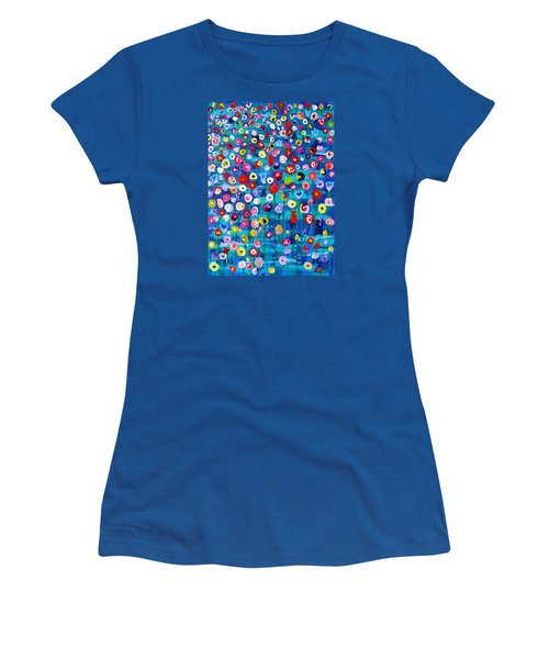 Wildflower Fiesta Women's T-Shirt (Junior Cut) by Brenda Pressnall