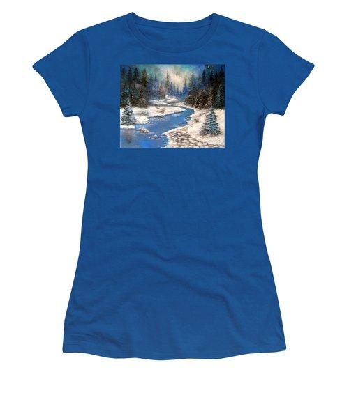 One Little Blue Women's T-Shirt (Athletic Fit)