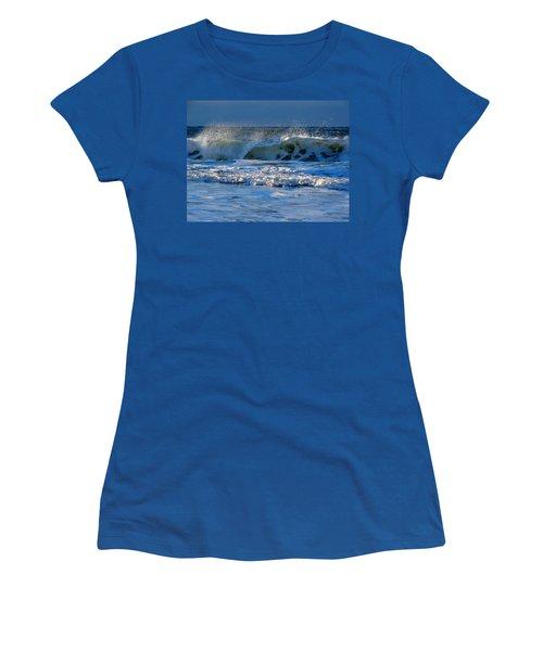 Winter Ocean At Nauset Light Beach Women's T-Shirt (Junior Cut) by Dianne Cowen