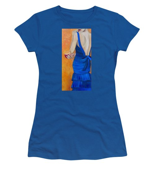 Woman In Blue Women's T-Shirt (Athletic Fit)