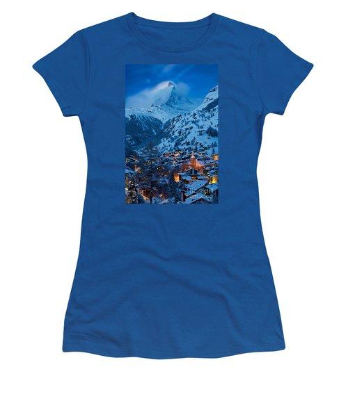 Zermatt - Winter's Night Women's T-Shirt