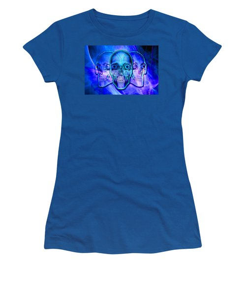 Illuminated Skulls Women's T-Shirt (Athletic Fit)