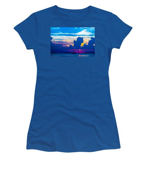 The Purple Sunset Women's T-Shirt (Athletic Fit)