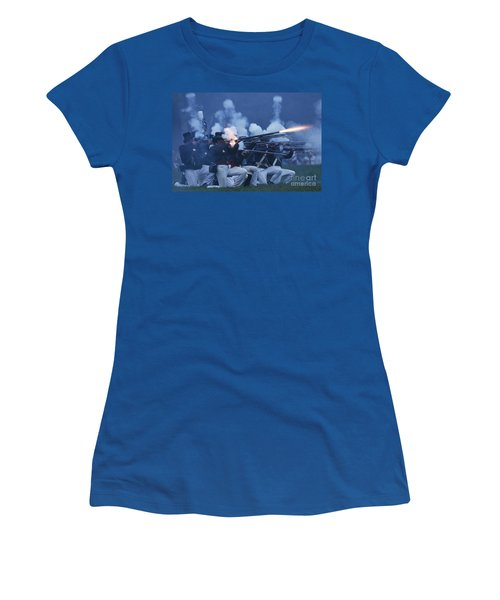 American Night Battle Women's T-Shirt (Junior Cut) by JT Lewis