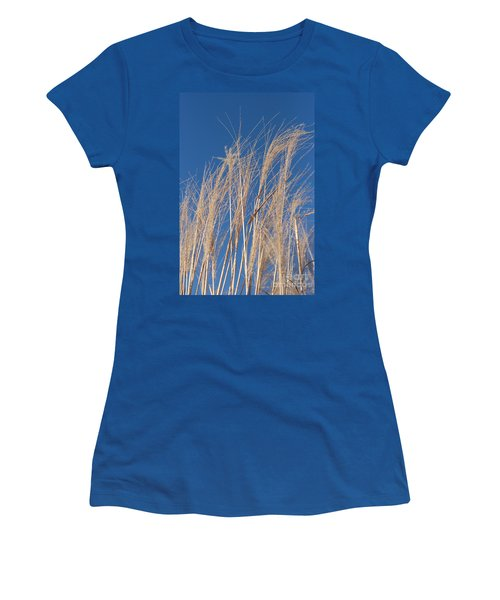 Women's T-Shirt (Junior Cut) featuring the photograph Blowing In The Wind by Barbara McMahon