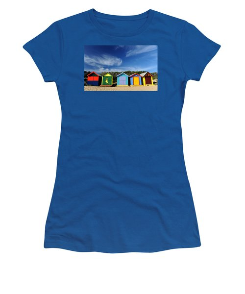 Women's T-Shirt (Junior Cut) featuring the photograph Brighton Beach by Yew Kwang