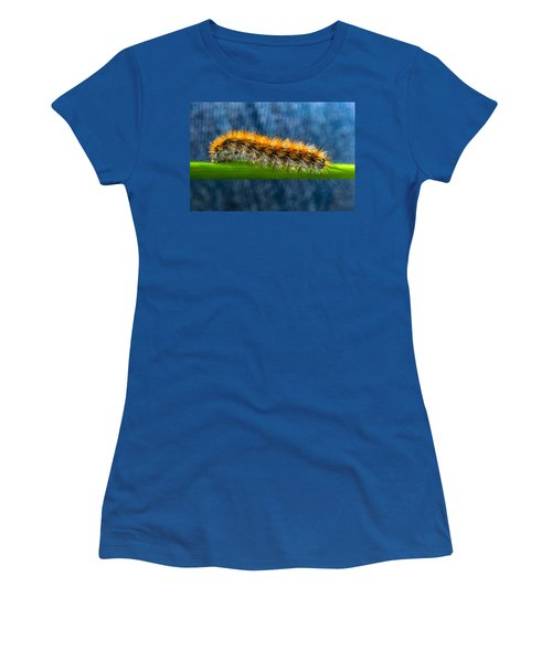 Butterfly Caterpillar Larva On The Stem Women's T-Shirt