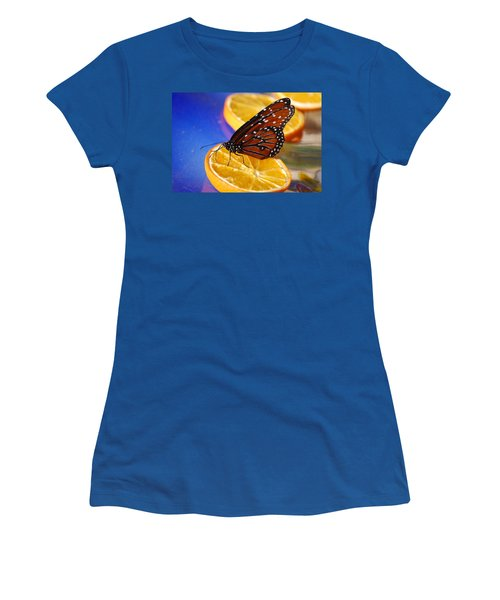 Women's T-Shirt (Junior Cut) featuring the photograph Butterfly Nectar by Tam Ryan
